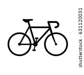 vector road bicycle icon | Shutterstock .eps vector #631120031