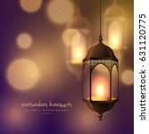 beautiful hanging lamps on... | Shutterstock .eps vector #631120775