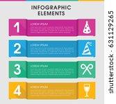 modern festive infographic... | Shutterstock .eps vector #631129265