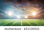 american football stadium 3d. | Shutterstock . vector #631130531