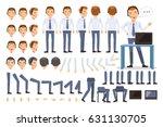 customer service man character... | Shutterstock .eps vector #631130705