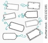 hand drawn  cute gift labels or ... | Shutterstock .eps vector #631132181