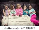 group of little girls playing... | Shutterstock . vector #631132877