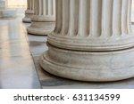 classical marble pillars detail ...