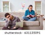 students preparing for... | Shutterstock . vector #631135091