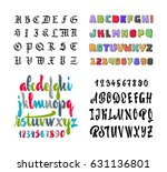 vector alphabet. gothic  brush  ... | Shutterstock .eps vector #631136801