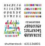 vector alphabet. gothic  brush  ... | Shutterstock .eps vector #631136801