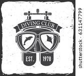 diving club. vector... | Shutterstock .eps vector #631147799