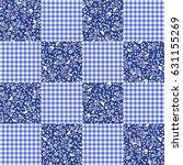flower patchwork pattern   Shutterstock .eps vector #631155269