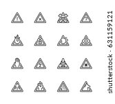 warning signs vector icon set... | Shutterstock .eps vector #631159121
