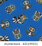 day of the dead colorful sugar... | Shutterstock .eps vector #631159211