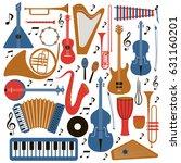 music instruments   vector... | Shutterstock .eps vector #631160201