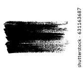 ink vector brush strokes.... | Shutterstock .eps vector #631163687