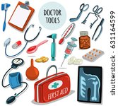 doctor's tools. medical... | Shutterstock .eps vector #631164599
