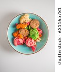 smashed and spoiled macaroons... | Shutterstock . vector #631165781