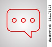speech bubble  chat icon vector ...