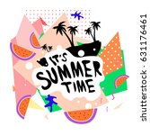 summer time vector banner... | Shutterstock .eps vector #631176461