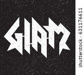 glam metal grunge emblem label...   Shutterstock .eps vector #631176611