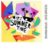 summer time vector banner... | Shutterstock .eps vector #631184231