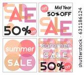 set of sale banners.vector... | Shutterstock .eps vector #631186124