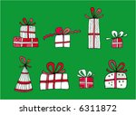 christmas presents | Shutterstock .eps vector #6311872