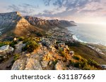 table mountain sunset | Shutterstock . vector #631187669