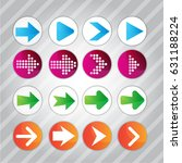 arrow icon pattern set vector... | Shutterstock .eps vector #631188224