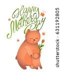 greetings card design for... | Shutterstock .eps vector #631192805
