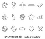 black interface outline icons... | Shutterstock .eps vector #631196309