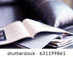selective focus of the stacking ... | Shutterstock . vector #631199861