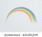 rainbow icon isolated on... | Shutterstock .eps vector #631201319