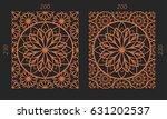 laser cutting set. woodcut... | Shutterstock .eps vector #631202537