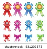 set of difficult ribbons | Shutterstock . vector #631203875
