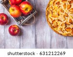 Apple Pie  Red Apples On A Gra...