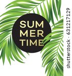summer poster with tropical... | Shutterstock .eps vector #631217129