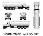 Tanker Truck Vector Template...