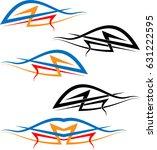 vehicle graphics  stripe  ... | Shutterstock .eps vector #631222595