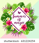summer abstract background with ... | Shutterstock .eps vector #631224254