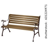 bench on a white background | Shutterstock .eps vector #631224971