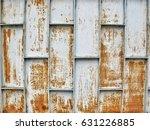 gray and brown rusty metal...   Shutterstock . vector #631226885