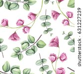 hand painted seamless pattern... | Shutterstock . vector #631227239
