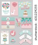 party package for birthday... | Shutterstock .eps vector #631229255