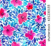 seamless pattern with summer... | Shutterstock . vector #631230155