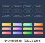 set of gradient colorful buttons | Shutterstock .eps vector #631231295