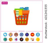 laundry basket icon | Shutterstock .eps vector #631241555