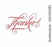 thanks | Shutterstock . vector #631242281