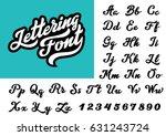 Stock vector calligraphic vintage handwritten vector font for lettering trendy retro calligraphy script 631243724