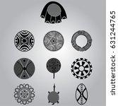 african national symbols | Shutterstock .eps vector #631244765