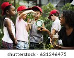 group of diverse kids learning... | Shutterstock . vector #631246475