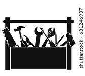 black tools box | Shutterstock .eps vector #631246937